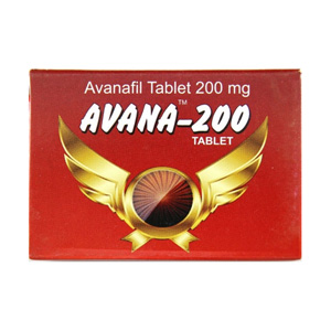 Avanafil 200mg (4 pills) online by Indian Brand