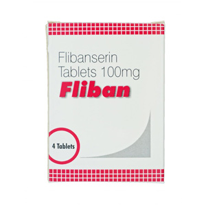 Flibanserin 100mg (4 pills) online by Indian Brand