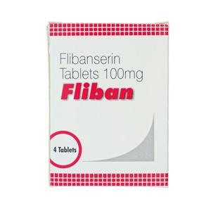Flibanserin 100mg (4 pills) online by Indian Brand
