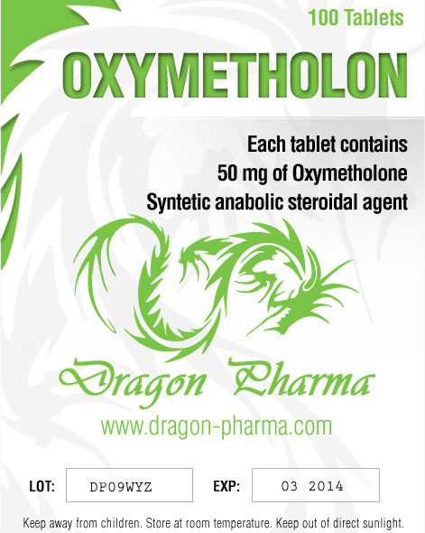 Oxymetholone (Anadrol) 100 tabs (50 mg/tab) online by Dragon Pharma