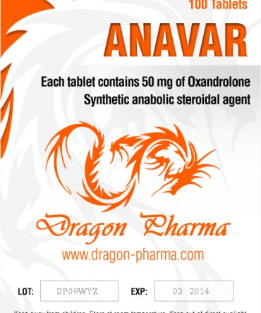 Oxandrolone (Anavar) 50mg (100 pills) online by Dragon Pharma