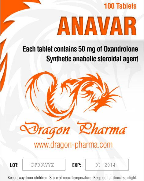Oxandrolone (Anavar) 50mg (100 pills) online by Dragon Pharma