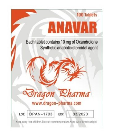 Oxandrolone (Anavar) 10mg (100 pills) online by Dragon Pharma