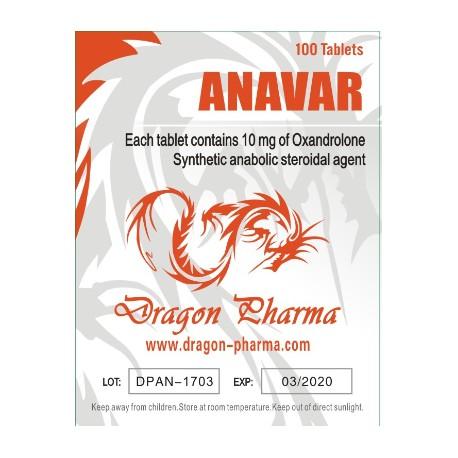 Oxandrolone (Anavar) 10mg (100 pills) online by Dragon Pharma