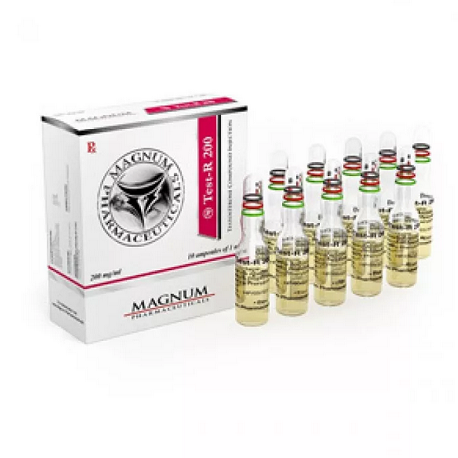 Sustanon 250 (Testosterone mix) 10 ampoules (200mg/ml) online by Magnum Pharmaceuticals