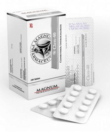 Clenbuterol hydrochloride (Clen) 40mcg (100 pills) online by Magnum Pharmaceuticals