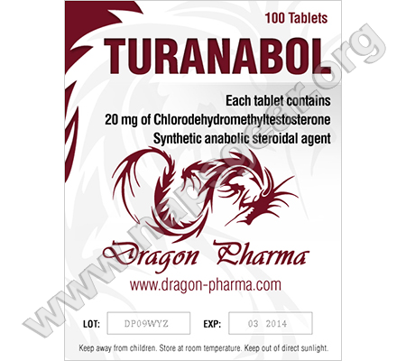 Turinabol (4-Chlorodehydromethyltestosterone) 100 Tabs (20 mg/tab) online by Dragon Pharma