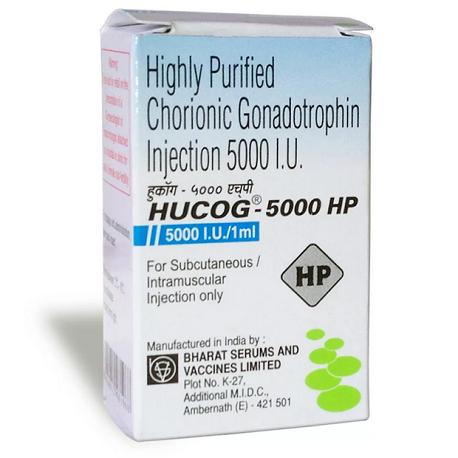 hcg 1 vial of 2000IU online by Bharat serums